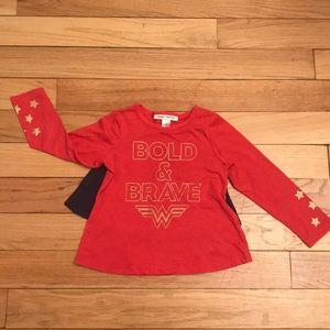 BabyGap + Junk Food Wonder Woman Shirt with Cape